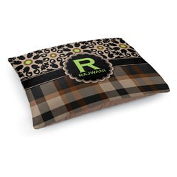 Moroccan Mosaic & Plaid Dog Bed (Personalized)
