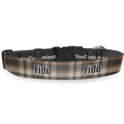 Moroccan Mosaic & Plaid Deluxe Dog Collar (Personalized)