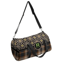 Moroccan Mosaic & Plaid Duffel Bag (Personalized)