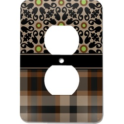 Moroccan Mosaic & Plaid Electric Outlet Plate (Personalized)