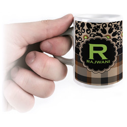 Moroccan Mosaic & Plaid Espresso Cups (Personalized)