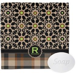 Moroccan Mosaic & Plaid Wash Cloth (Personalized)