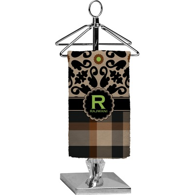 Moroccan Mosaic & Plaid Finger Tip Towel - Full Print (Personalized)