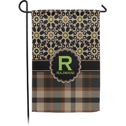 Moroccan Mosaic & Plaid Garden Flags With Pole - Single or Double Sided (Personalized)