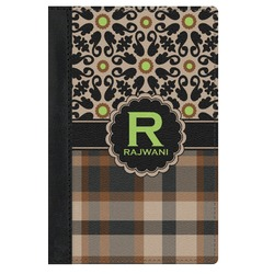 Moroccan Mosaic & Plaid Genuine Leather Passport Cover (Personalized)