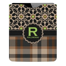 Moroccan Mosaic & Plaid Genuine Leather iPad Sleeve (Personalized)