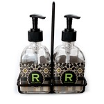 Moroccan Mosaic & Plaid Soap & Lotion Dispenser Set (Glass) (Personalized)
