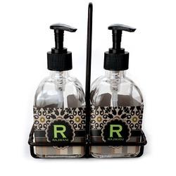 Moroccan Mosaic & Plaid Soap & Lotion Dispenser Set (Glass) (Personalized)