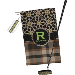 Moroccan Mosaic & Plaid Golf Towel Gift Set (Personalized)
