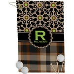 Moroccan Mosaic & Plaid Golf Towel - Full Print (Personalized)