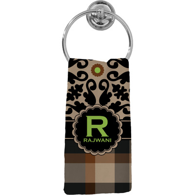 Moroccan Mosaic & Plaid Hand Towel - Full Print (Personalized)