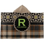 Moroccan Mosaic & Plaid Kids Hooded Towel (Personalized)