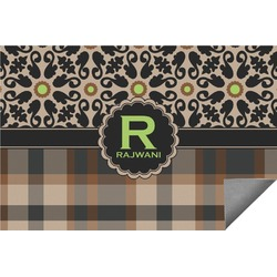 Moroccan Mosaic & Plaid Indoor / Outdoor Rug - 6'x9' (Personalized)
