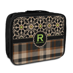 Moroccan Mosaic & Plaid Insulated Lunch Bag (Personalized)