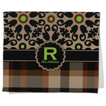 Moroccan Mosaic & Plaid Kitchen Towel - Full Print (Personalized)