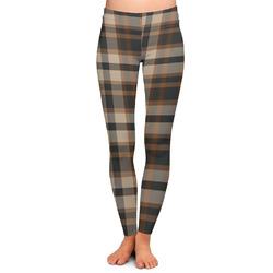 Moroccan Mosaic & Plaid Ladies Leggings - Medium (Personalized)
