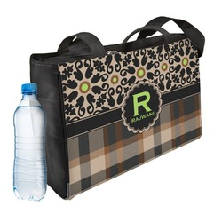 Moroccan Mosaic & Plaid Ladies Workout Bag (Personalized)