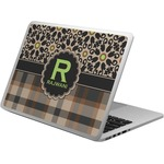 Moroccan Mosaic & Plaid Laptop Skin - Custom Sized (Personalized)