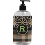 Moroccan Mosaic & Plaid Plastic Soap / Lotion Dispenser (Personalized)