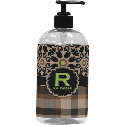 Moroccan Mosaic & Plaid Plastic Soap / Lotion Dispenser (Personalized)