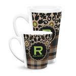 Moroccan Mosaic & Plaid Latte Mug (Personalized)