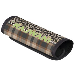Moroccan Mosaic & Plaid Luggage Handle Cover (Personalized)