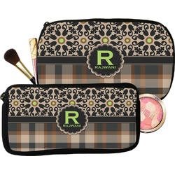Moroccan Mosaic & Plaid Makeup / Cosmetic Bag (Personalized)