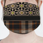 Moroccan Mosaic & Plaid Face Mask Cover (Personalized)