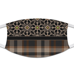 Moroccan Mosaic & Plaid Cloth Face Mask (T-Shirt Fabric) (Personalized)