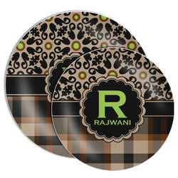 Moroccan Mosaic & Plaid Melamine Plate (Personalized)