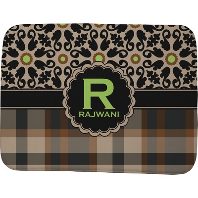 "Moroccan Mosaic & Plaid Memory Foam Bath Mat - 48""x36"" (Personalized)"