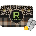 Moroccan Mosaic & Plaid Memory Foam Bath Mat (Personalized)