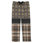 Moroccan Mosaic & Plaid Mens Pajama Pants (Personalized)