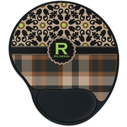 Moroccan Mosaic & Plaid Mouse Pad with Wrist Support
