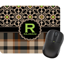 Moroccan Mosaic & Plaid Rectangular Mouse Pad (Personalized)