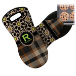 Moroccan Mosaic & Plaid Neoprene Oven Mitt (Personalized)