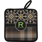 Moroccan Mosaic & Plaid Pot Holder (Personalized)