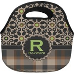Moroccan Mosaic & Plaid Lunch Bag (Personalized)