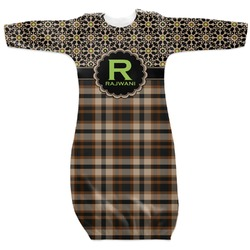 Moroccan Mosaic & Plaid Newborn Gown (Personalized)