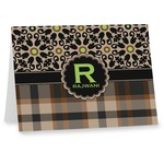 Moroccan Mosaic & Plaid Note cards (Personalized)