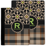 Moroccan Mosaic & Plaid Notebook Padfolio w/ Name and Initial