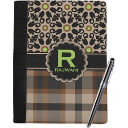 Moroccan Mosaic & Plaid Notebook Padfolio (Personalized)