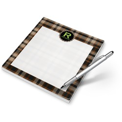 Moroccan Mosaic & Plaid Notepad (Personalized)