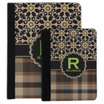 Moroccan Mosaic & Plaid Padfolio Clipboard (Personalized)