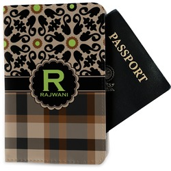 Moroccan Mosaic & Plaid Passport Holder - Fabric (Personalized)