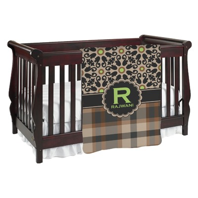 Moroccan Mosaic & Plaid Baby Blanket (Personalized)