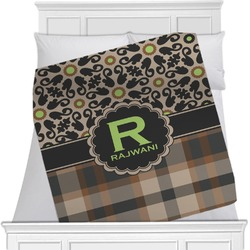 Moroccan Mosaic & Plaid Minky Blanket (Personalized)