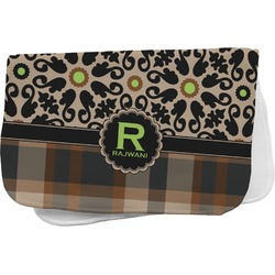 Moroccan Mosaic & Plaid Burp Cloth (Personalized)