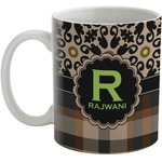 Moroccan Mosaic & Plaid Coffee Mug (Personalized)