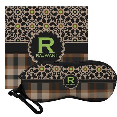 Moroccan Mosaic & Plaid Eyeglass Case & Cloth (Personalized)